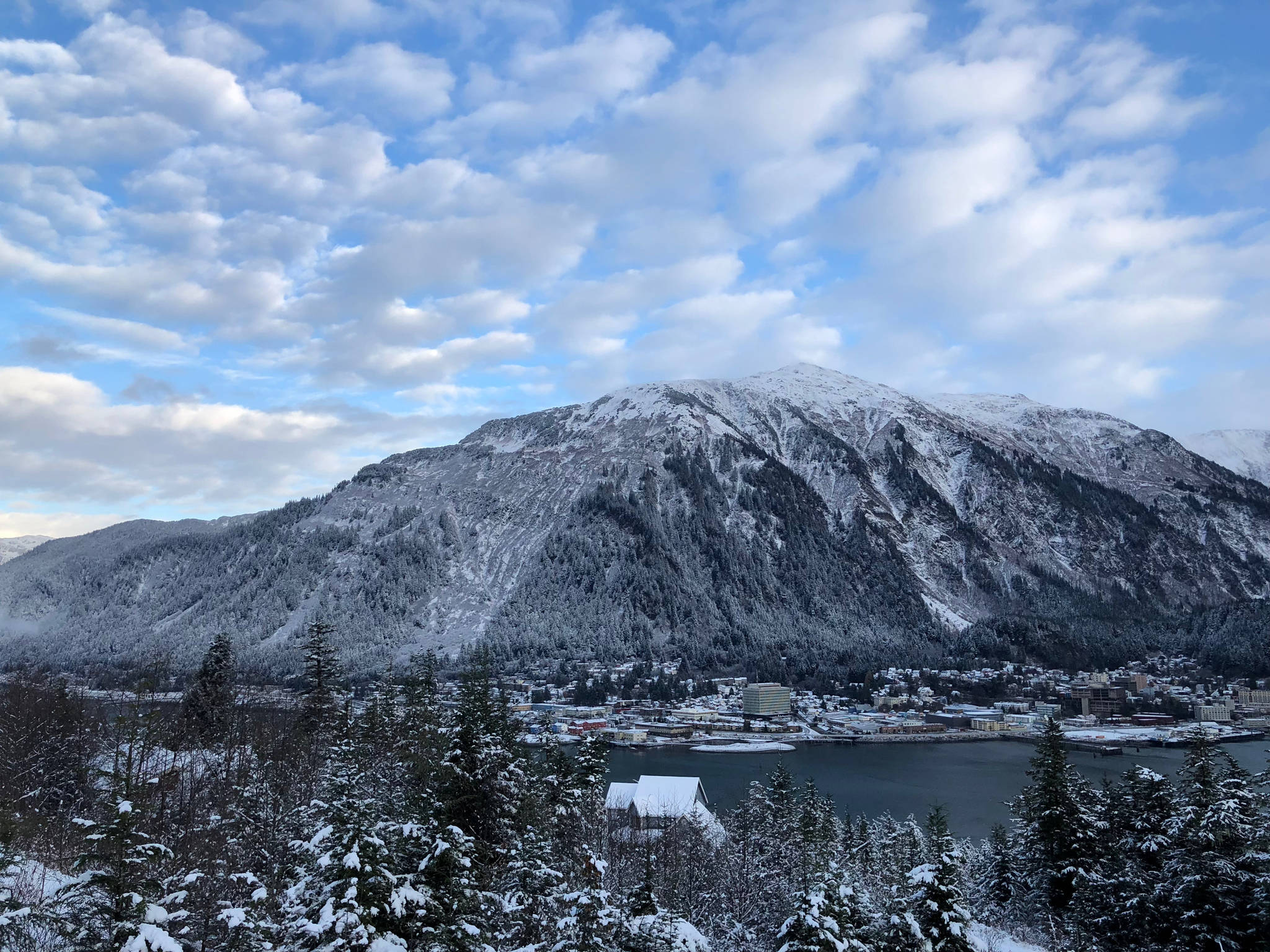 The first snow of the season covers Juneau on Saturday, Nov. 11, 2017. (Angelo Saggiomo | Juneau Empire)
