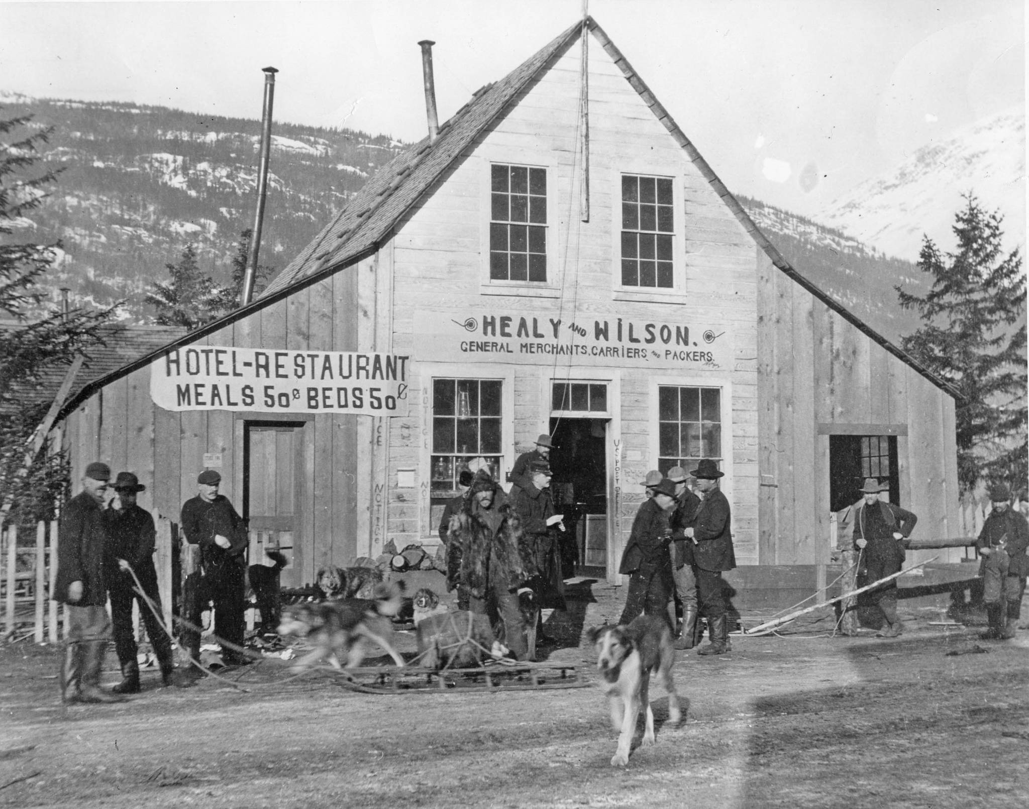 Healy & Wilson's Trading Post in 1898. (National Archives, Collection of Brig. Gen. David L. Brainard, 200(S)-BR-1-A-10C; KLGO HW-10-1082)