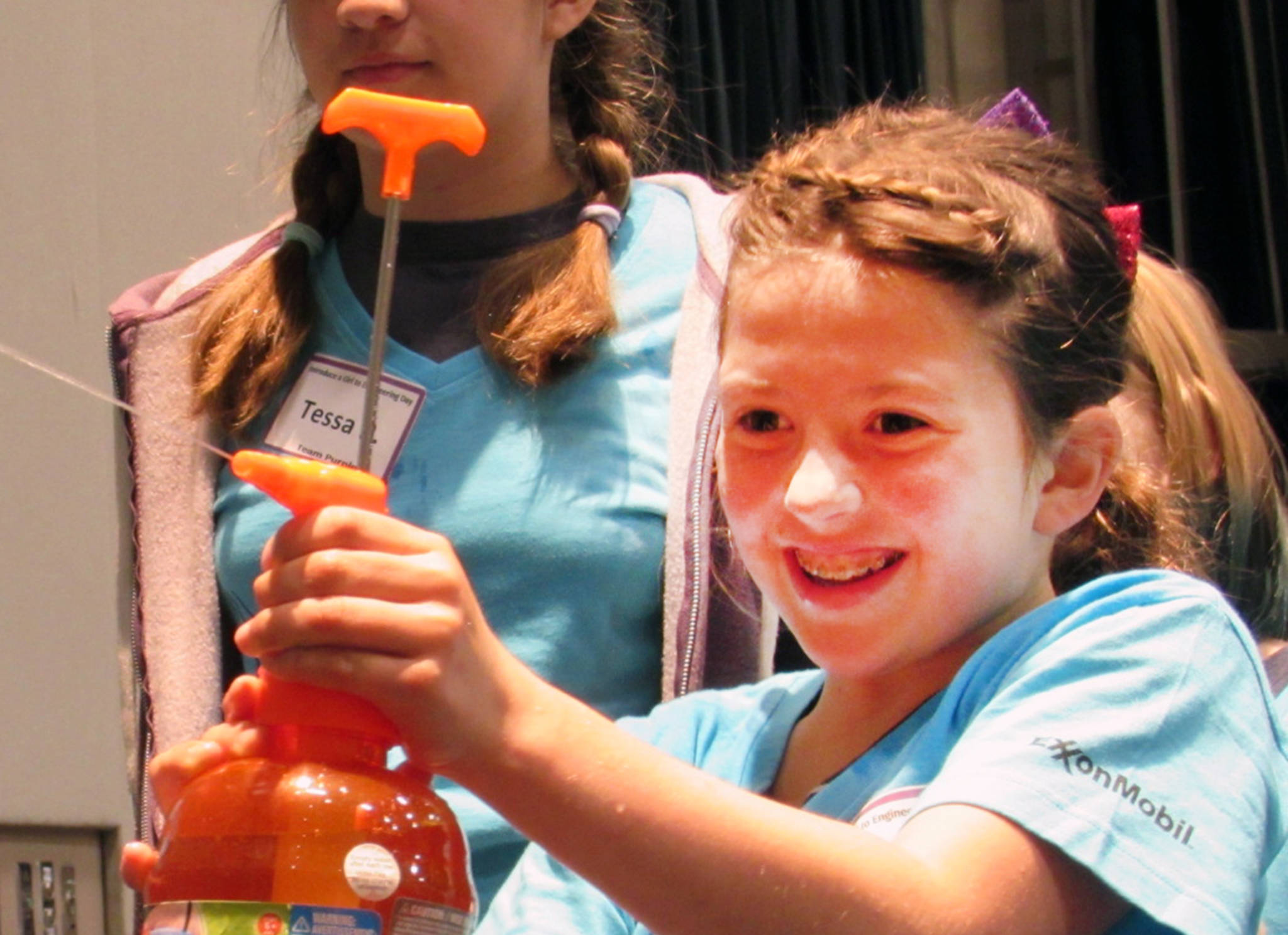Introduce a Girl to Engineering Day causes smiles, messes