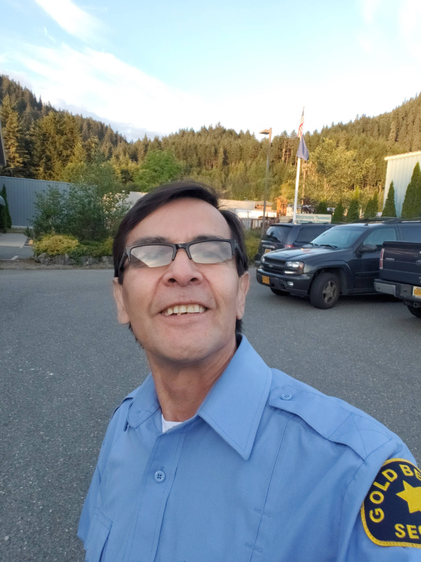Jeff Williams, a Goldbelt Security officer who helped save a fledgling bird. (Courtesy Photo | Pat Bock)