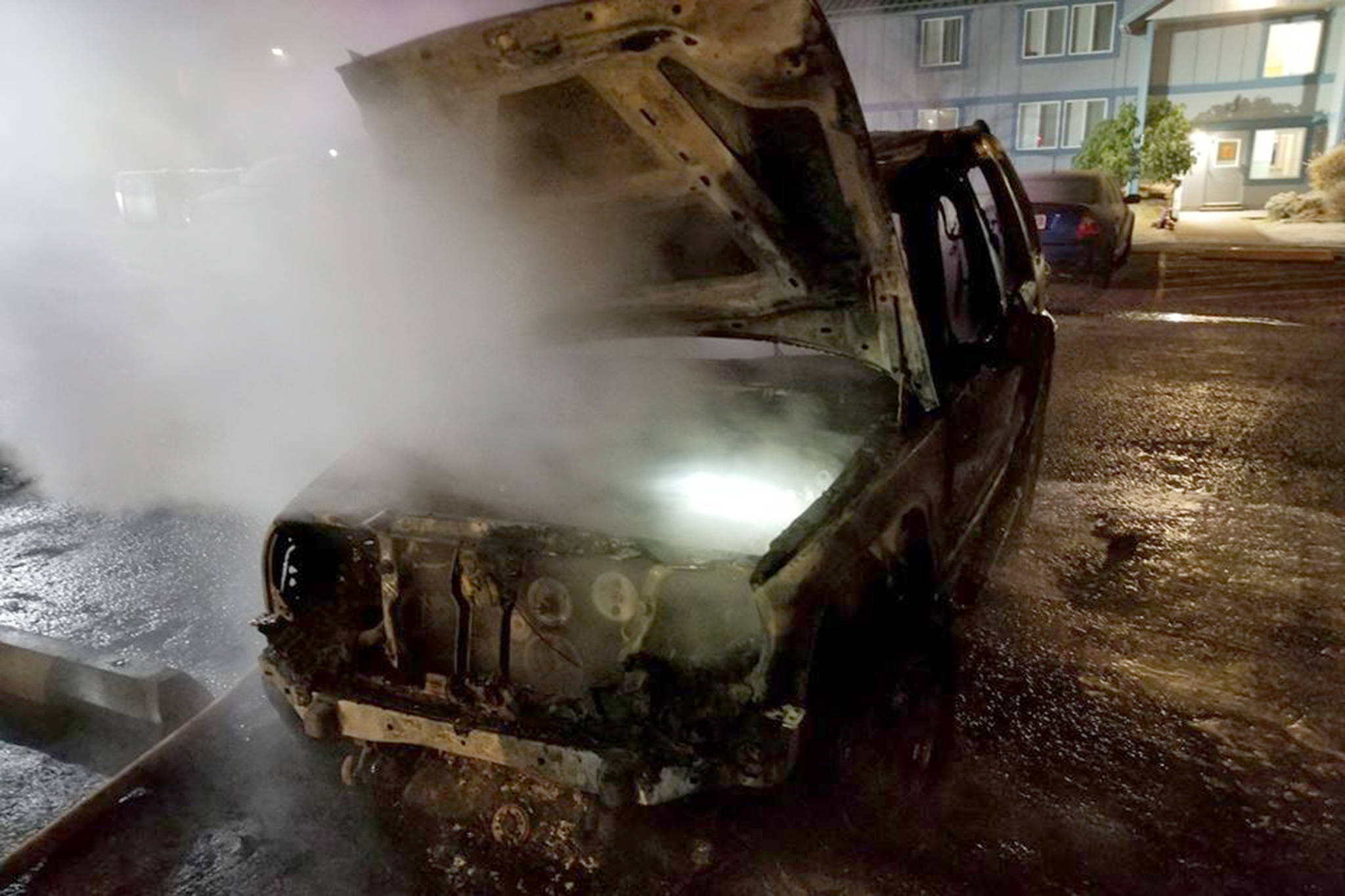 A Jeep Liberty is pictured after a fire in the early morning of Tuesday, Nov. 6, 2018. (Courtesy Photo | Capital City Fire/Rescue)
