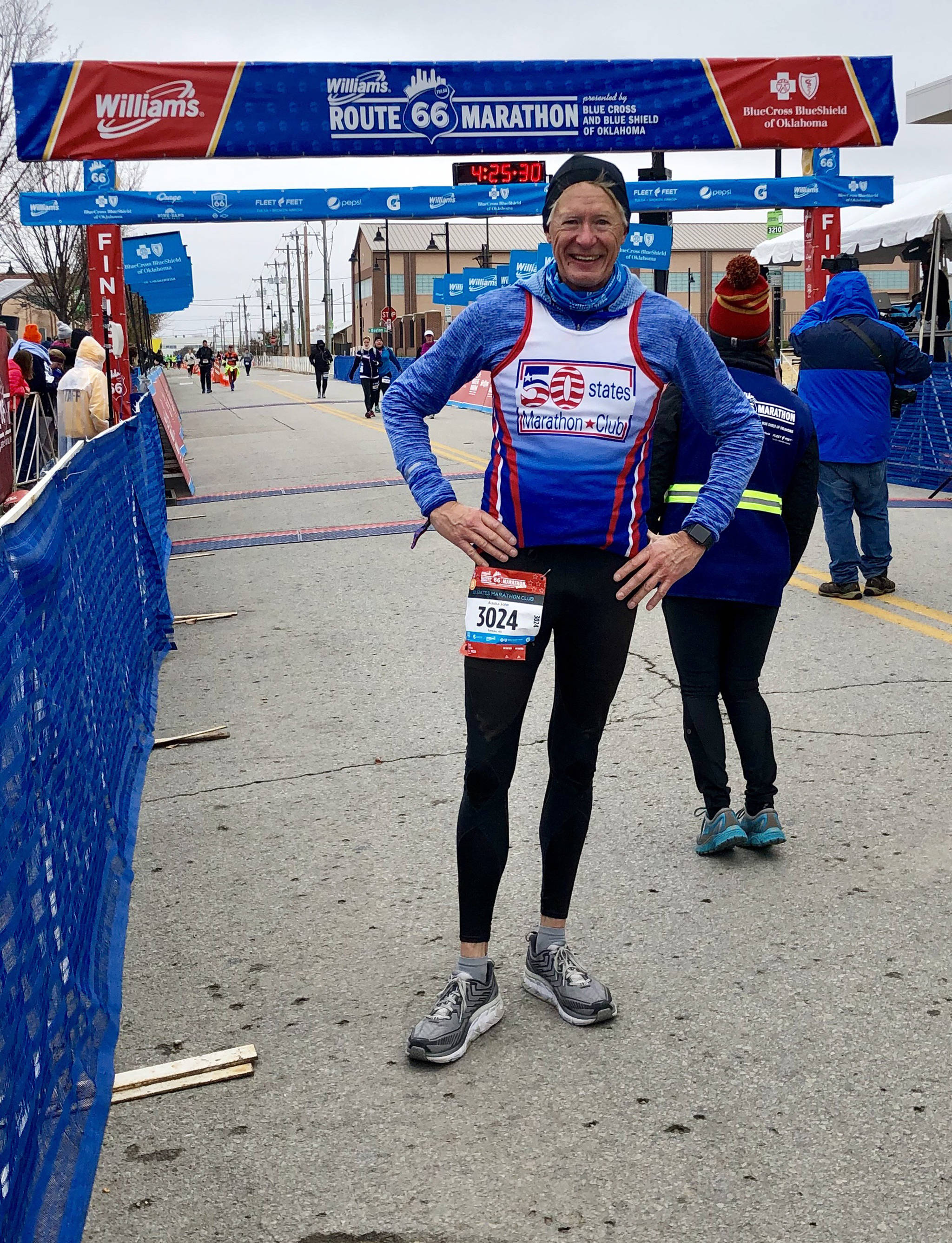 John Kern poses after completing the Williams Route 66 Marathon in Tulsa, Oklahoma, on Sunday, Nov. 18, 2018. (Courtesy Photo | John Kern)