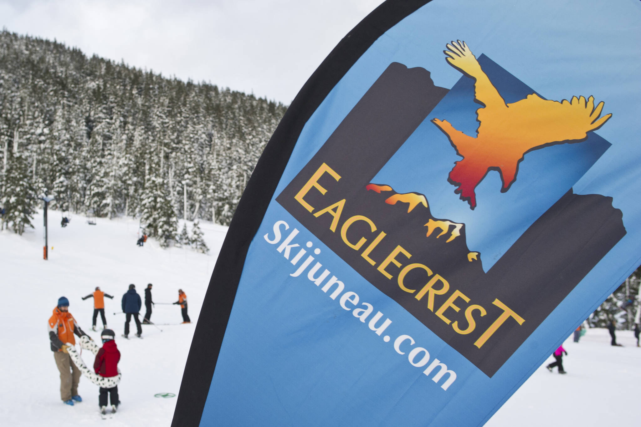 In this Jan. 6, 2017 photo, Juneau residents participate in the World's Largest Lesson at Eaglecrest Ski Area. (Michael Penn | Juneau Empire File)