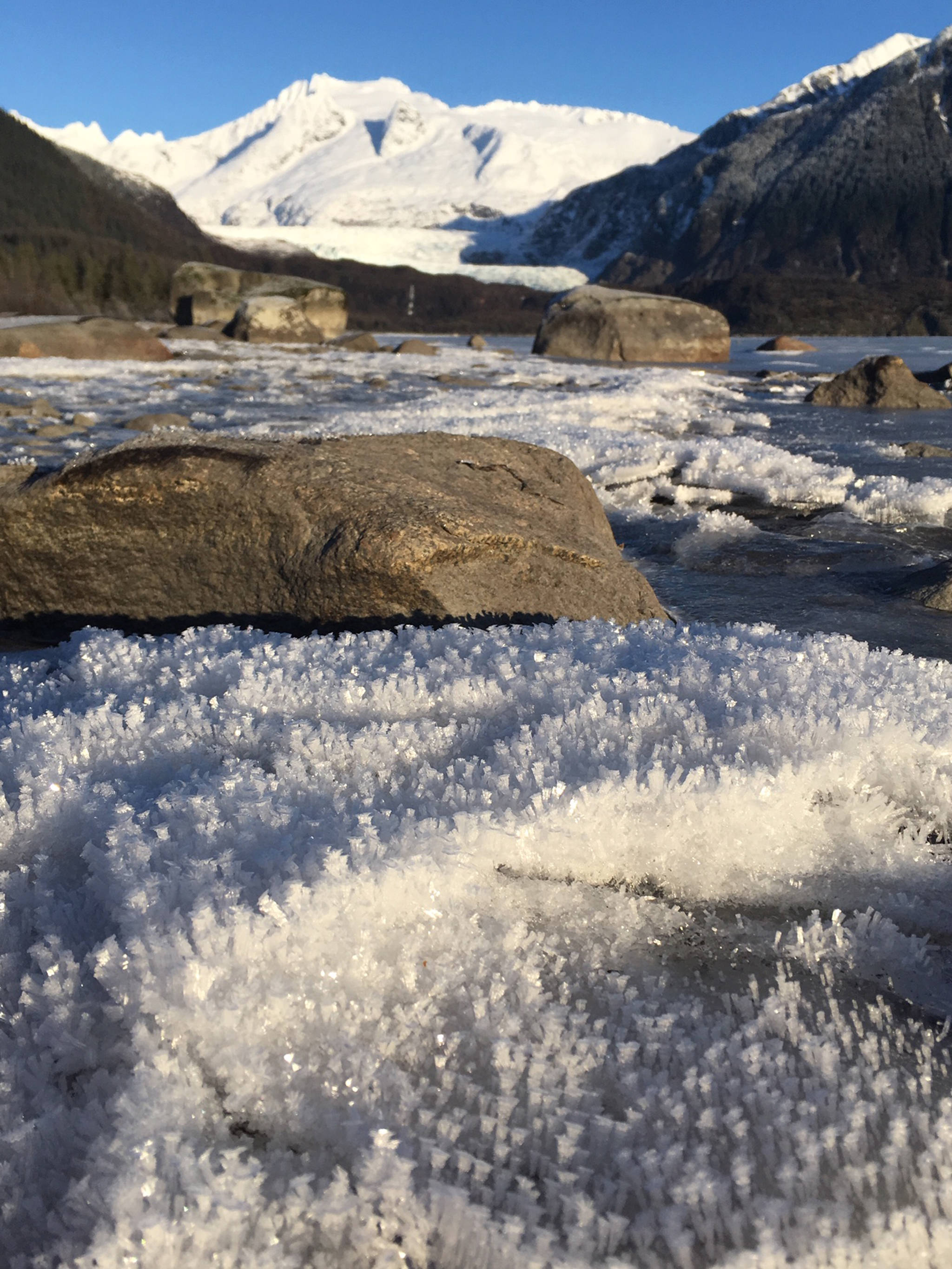 Winter at Mendenhall Lake. (Courtesy Photo | Deborah Rudis)