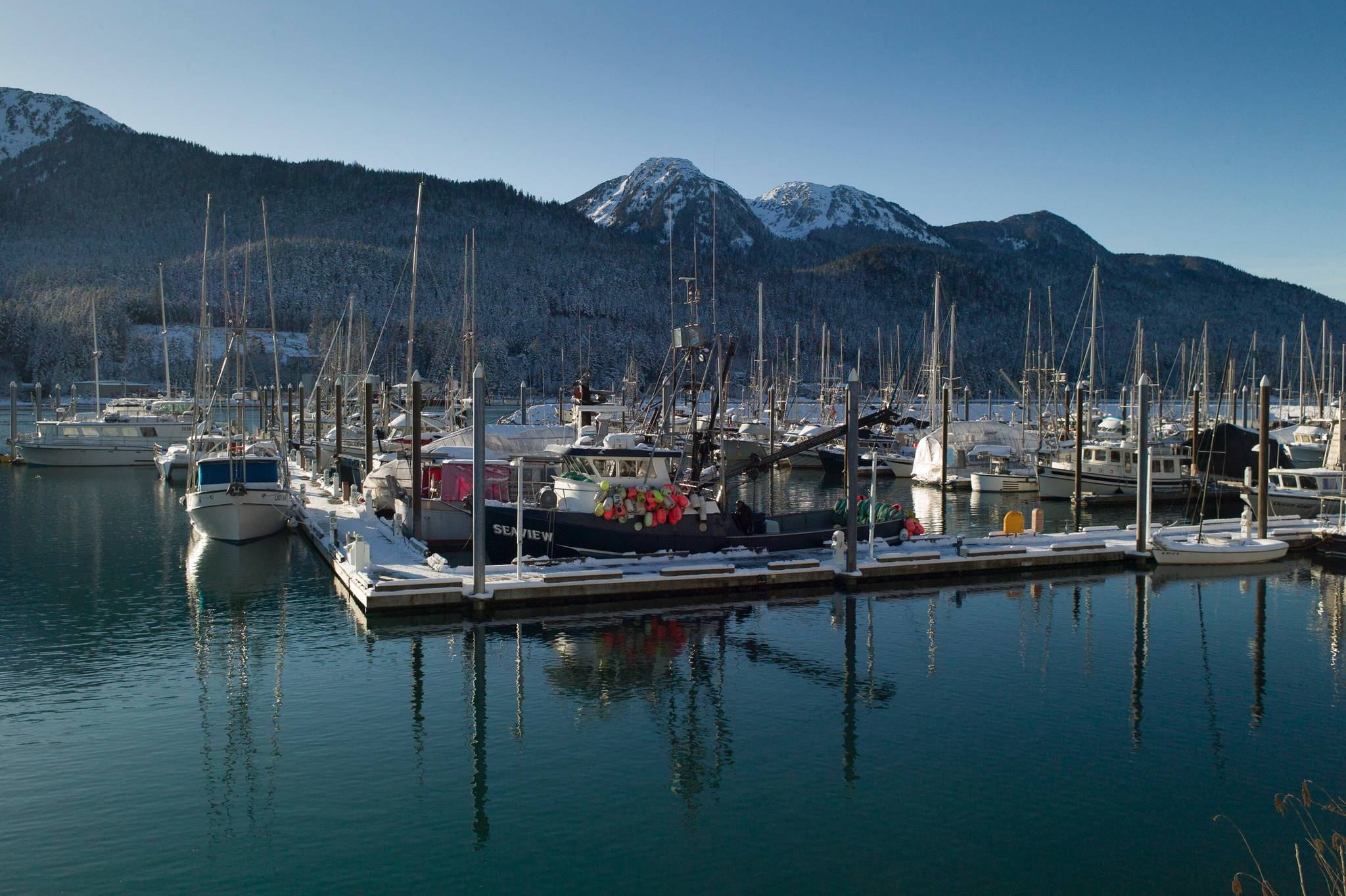 Harris Harbor on Friday, Feb. 8, 2019. David Little, 67, who lived aboard the boat Quality Time, was found dead in the water next to his boat in Harris Harbor on Saturday, Feb. 2, 2019. (Michael Penn | Juneau Empire)