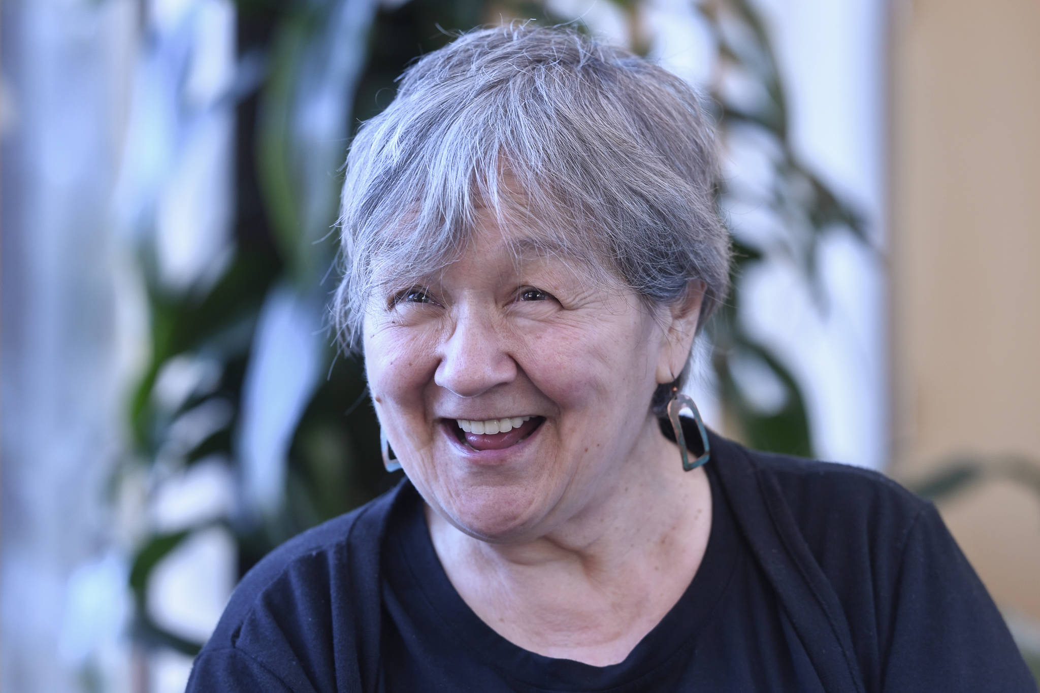 Ernestine Saankalaxt' Hayes talks about her time as Alaska State Writer Laureate on Wednesday, March 6, 2019. (Michael Penn | Juneau Empire)