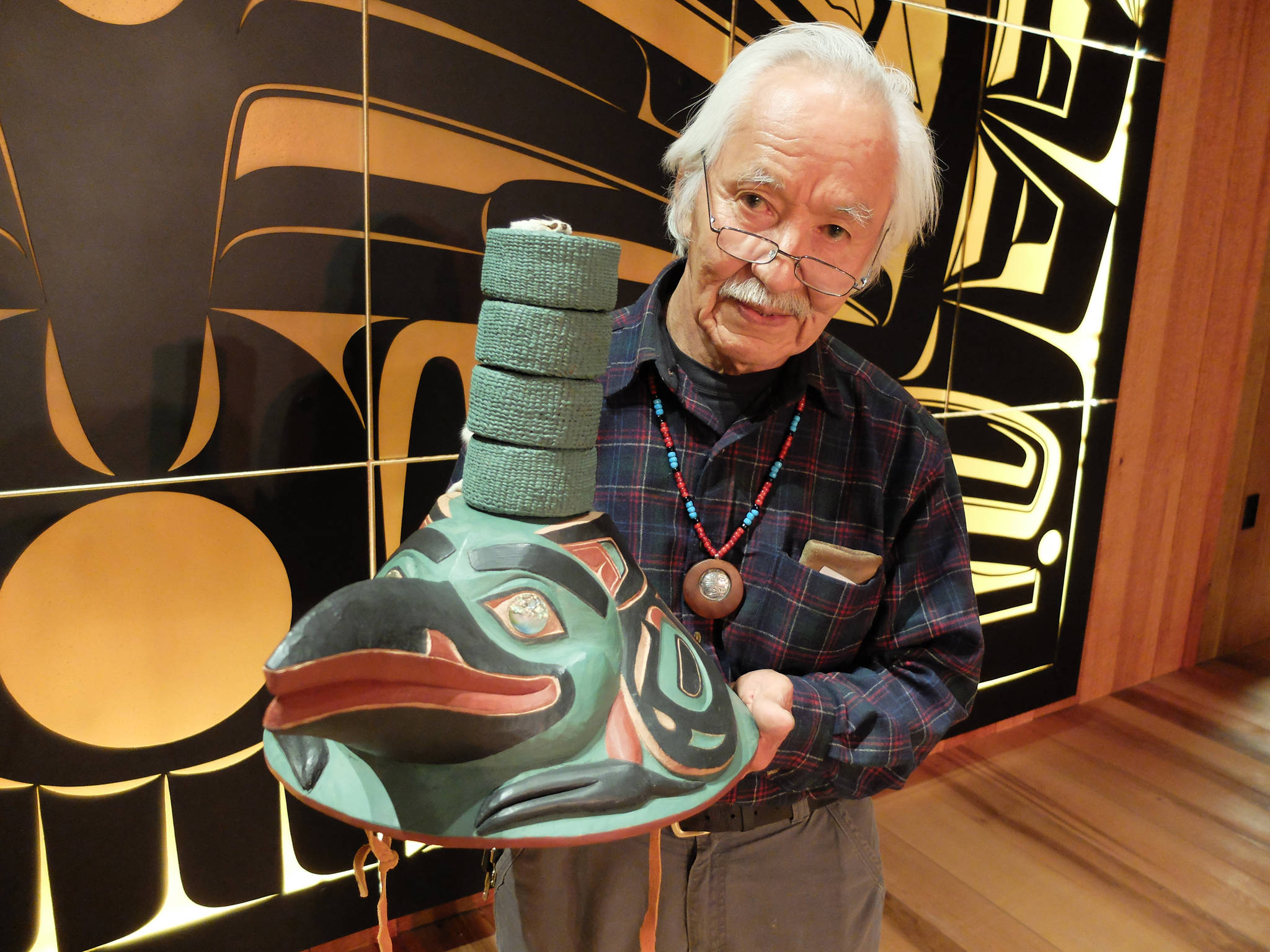 Check out this beautifully carved Raven hat, on public display Friday in Juneau
