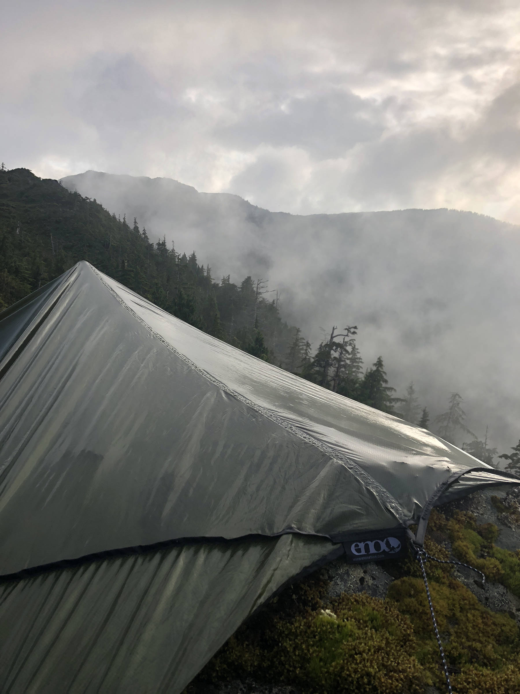 Was it fun to be stuck under a tarp during a rain storm? Yeah, in a way, writes the author. (Courtesy Photo | Jeff Lund)