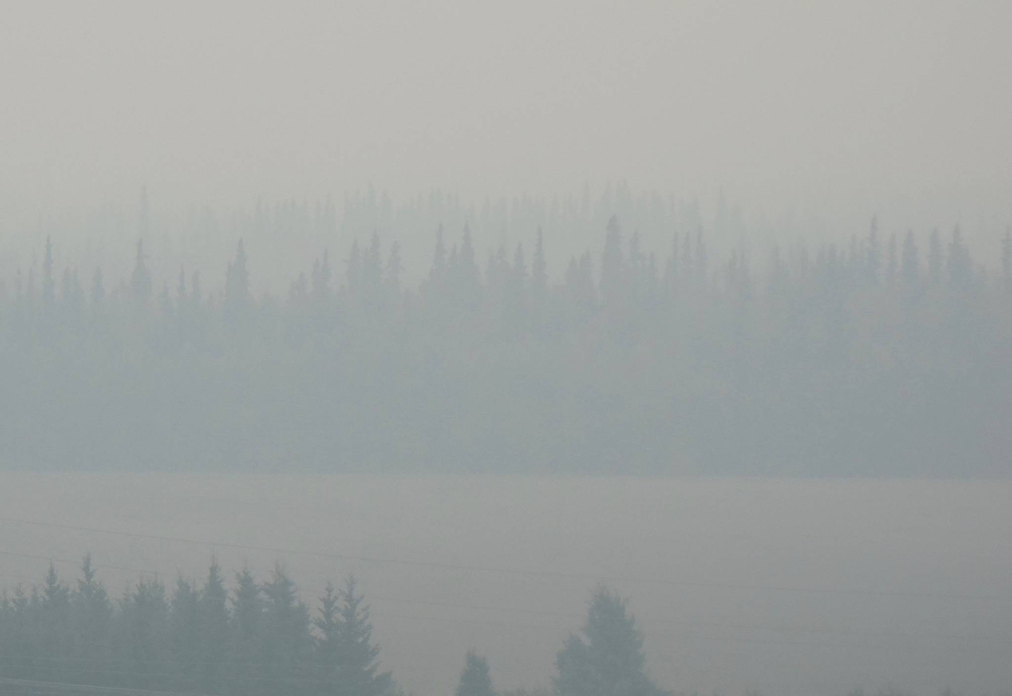 Fairbanks, shown here in July 2019, and other areas of Alaska are smokier, due to a recent increase in summer wildfires. (Courtesy Photo | Ned Rozell)