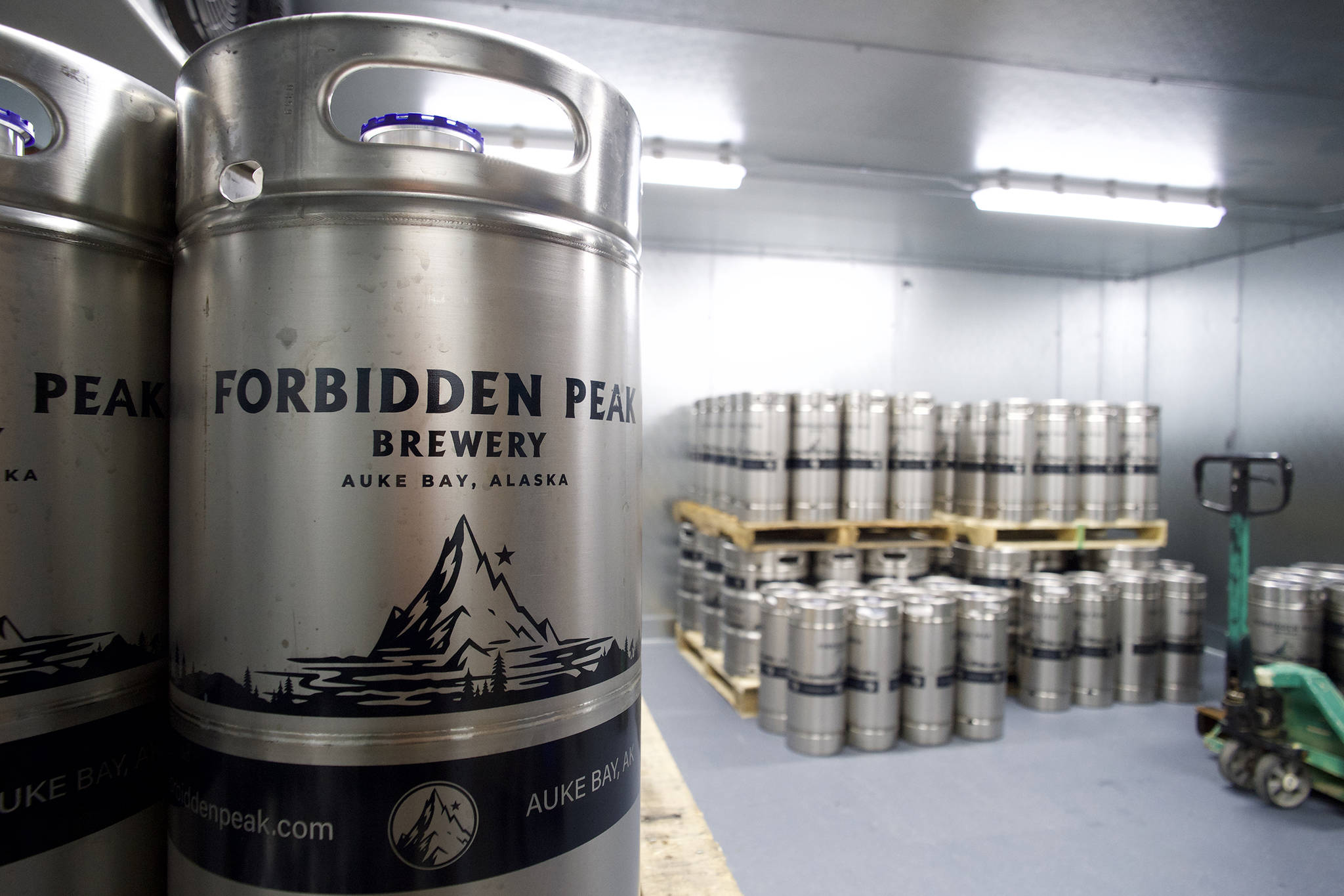 Work at the Forbidden Peak Brewery is nearly complete on Thursday, Oct. 3, 2019. The Auke Bay brewery is to open Saturday, Oct. 12. (Michael Penn | Juneau Empire)