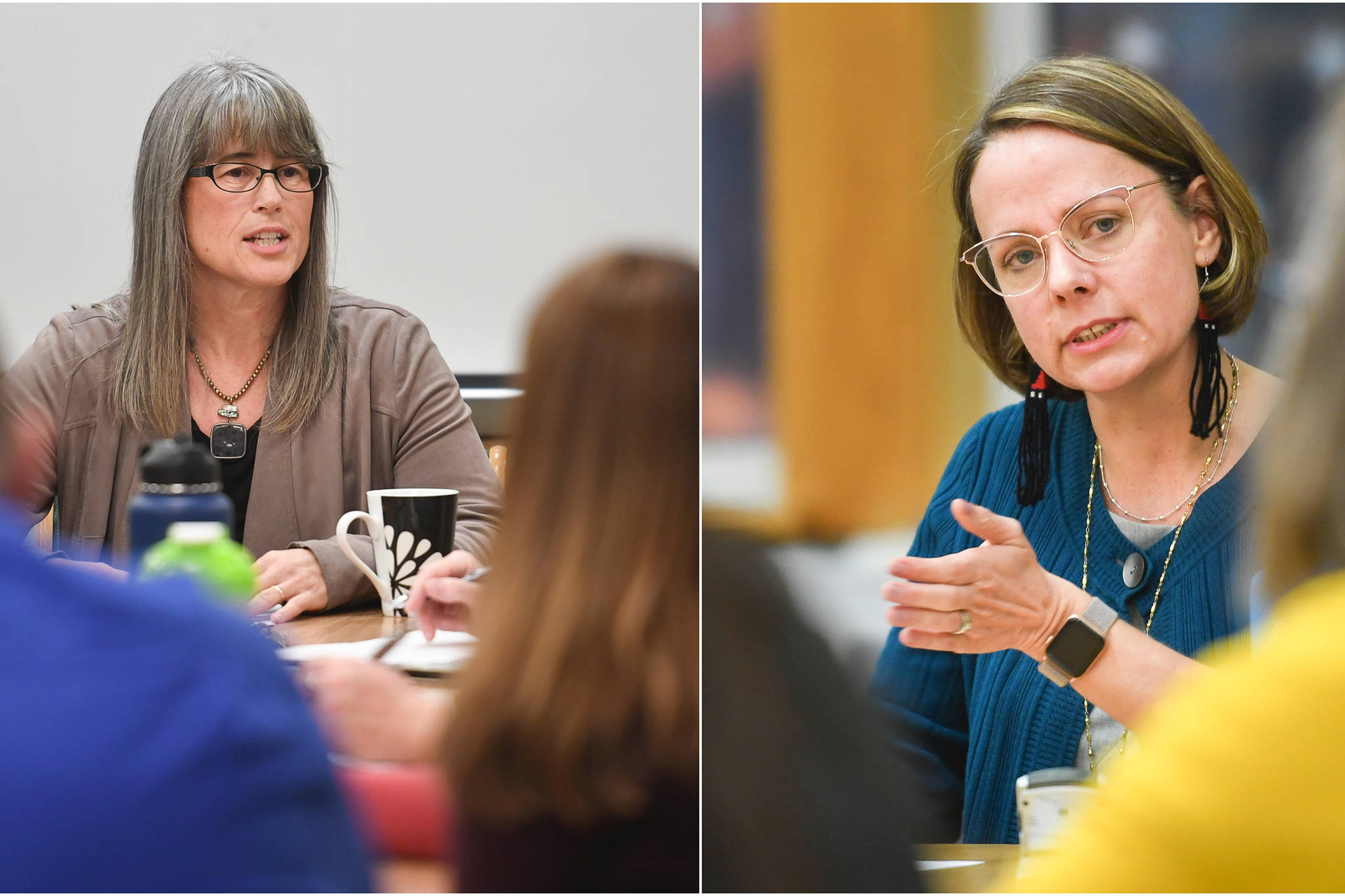 Molly Box is the new permanent principal of Harborview Elementary School, and Elizabeth Pisel-Davis is the new permanent principal of Riverbend Elementary School. Both previously served as interim principal at their respective schools. (Michael Penn | Juneau Empire)