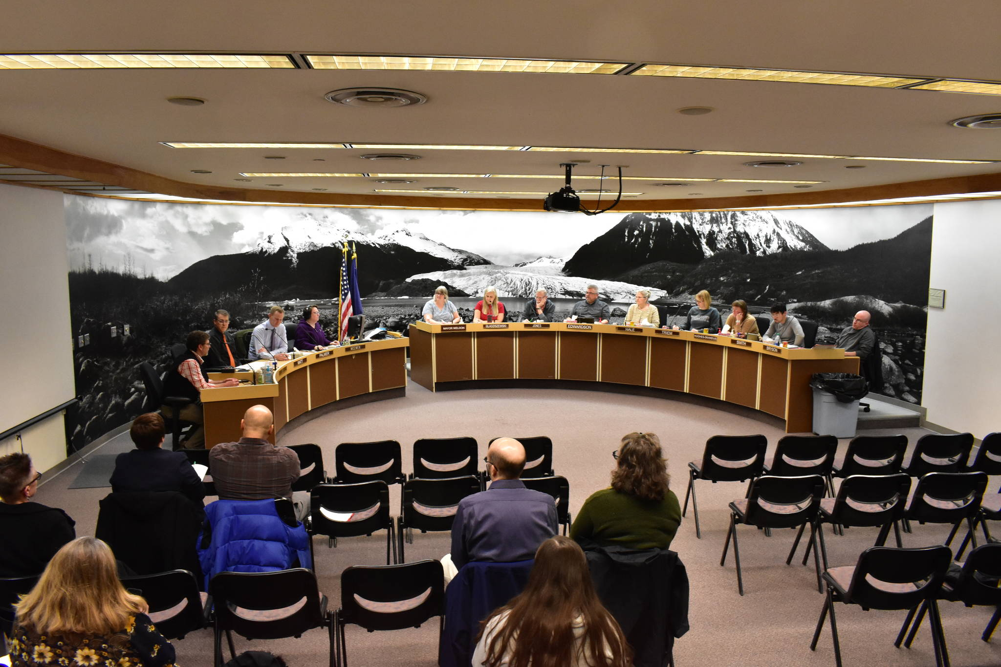 The City and Borough of Juneau Committee of the Whole at its meeting at Juneau City Hall on Monday, Dec. 9, 2019. (Peter Segall | Juneau Empire)