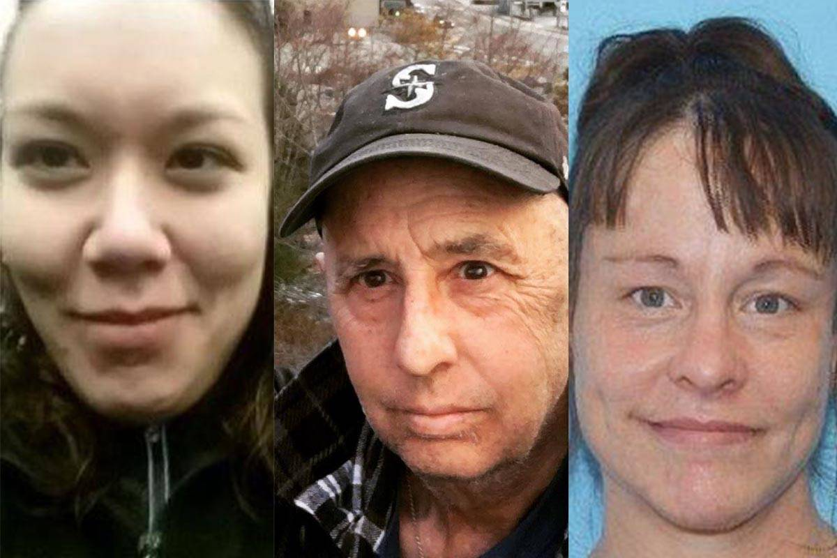 Loridee Wilson, John Franklin Godfrey, and Tracy Lynn Day are among the missing persons on the registry from the Juneau area. (Composite photo | Juneau Empire)