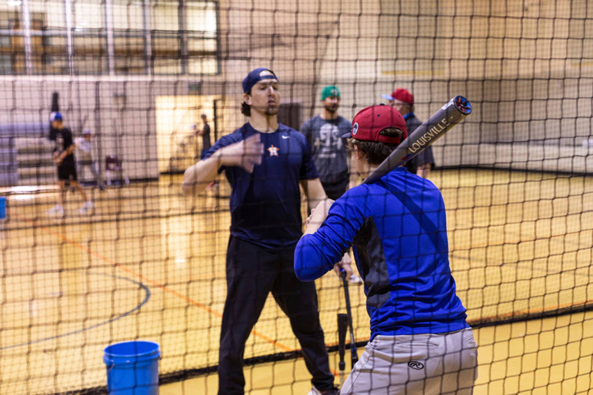 An instructor with the Winter College Coaches Baseball Camp leads a drill. (Courtesy Photo | American Legion Baseball)