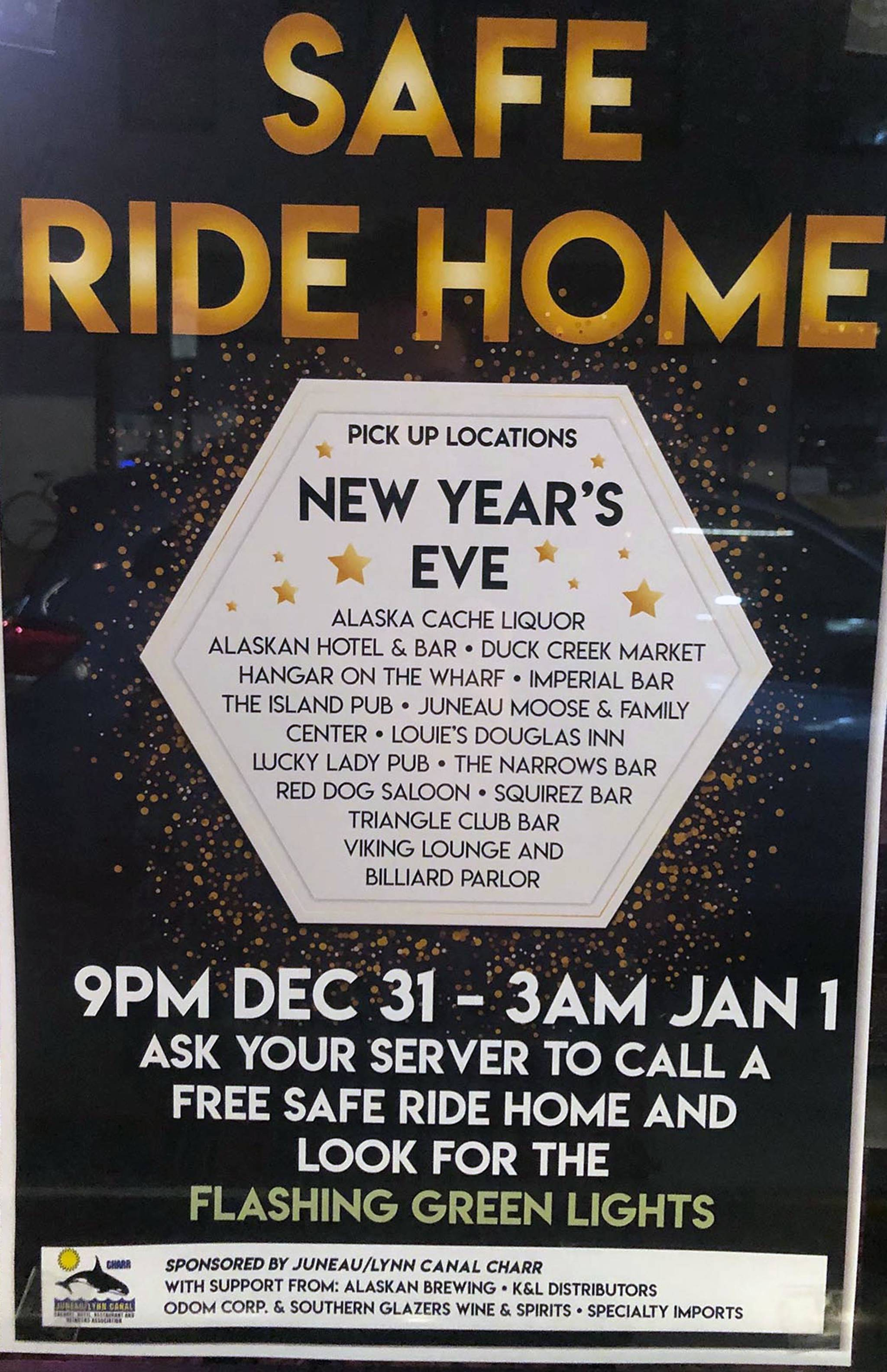 Don't drink and drive on New Year's Eve, ride safe for free