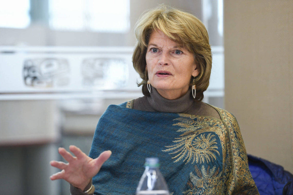 U.S. Sen. Lisa Murkowski, R-Alaska, speaks during an interview at the Juneau Empire on Monday, Feb. 18, 2019. (Michael Penn | Juneau Empire File)