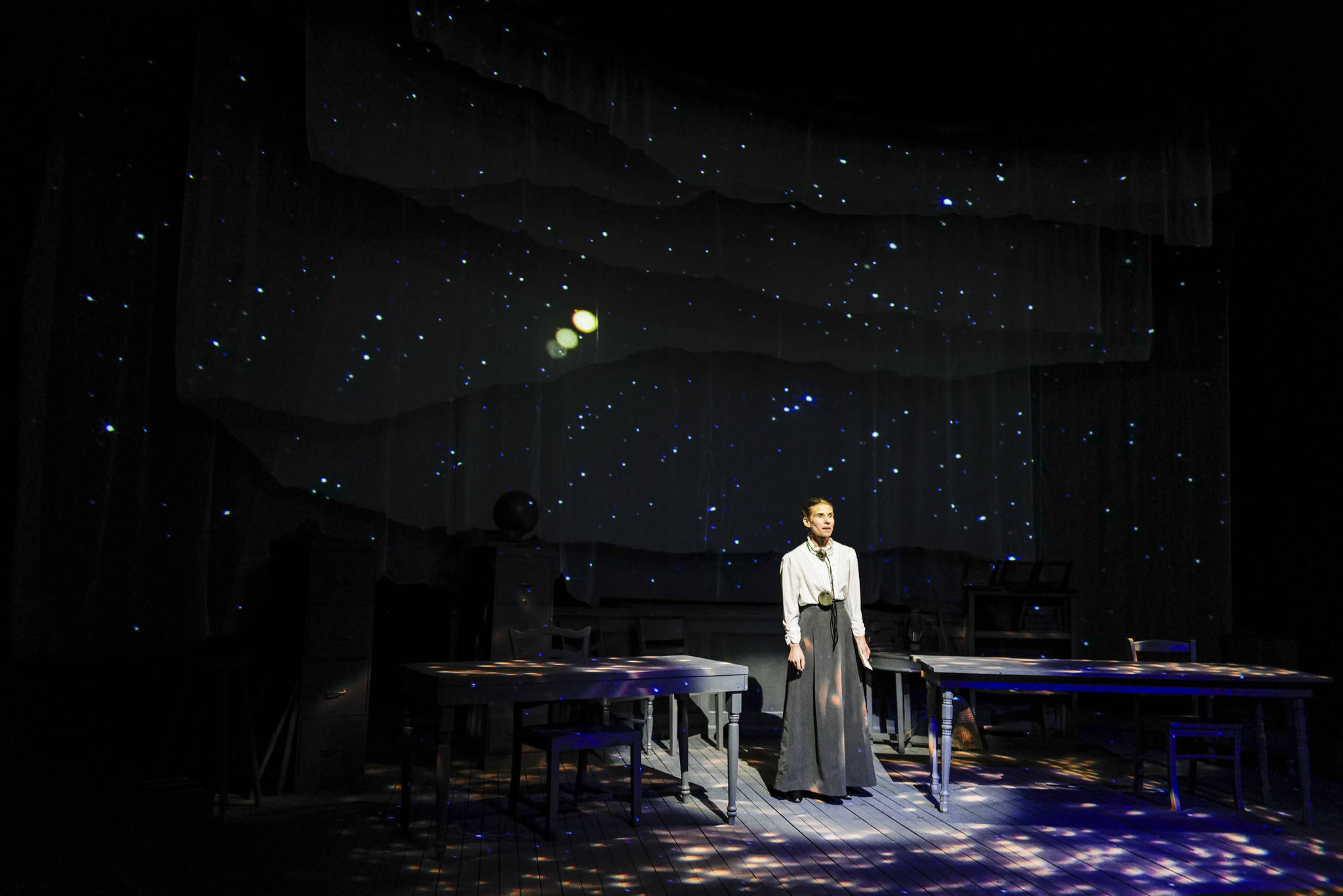 Photos by Michael Penn | Capital City Weekly                                Shelley Virginia portrays Henrietta Swan Leavitt, whose discoveries helped create the standard used to measure the distance of far-off galaxies.
