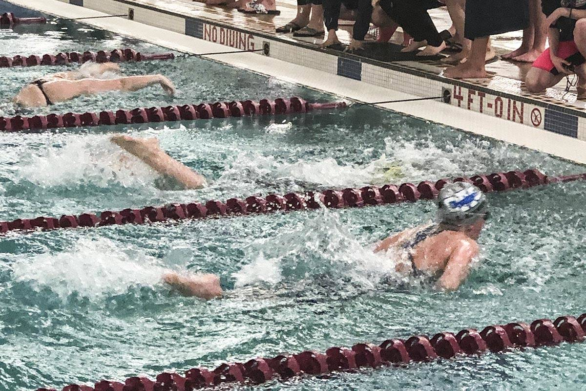 Swimmers from the Glacier Swimming Club ran roughshod over the competition at the Alaska Age Group Championships on Feb. 14-15, setting a record for the most points scored by a single team and winning the meet handily. (Courtesy photo | For Glacier Swimming Club)