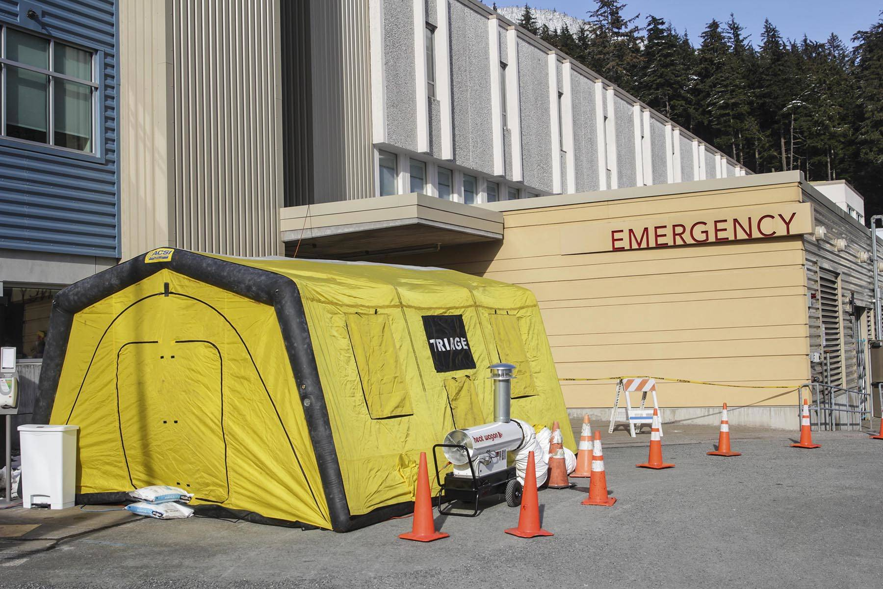 Bartlett Regional Hospital is one of many organizations in Juneau adjusting its operating procedures to deal with the risk of outbreak of the coronavirus. (Michael S. Lockett | Juneau Empire)