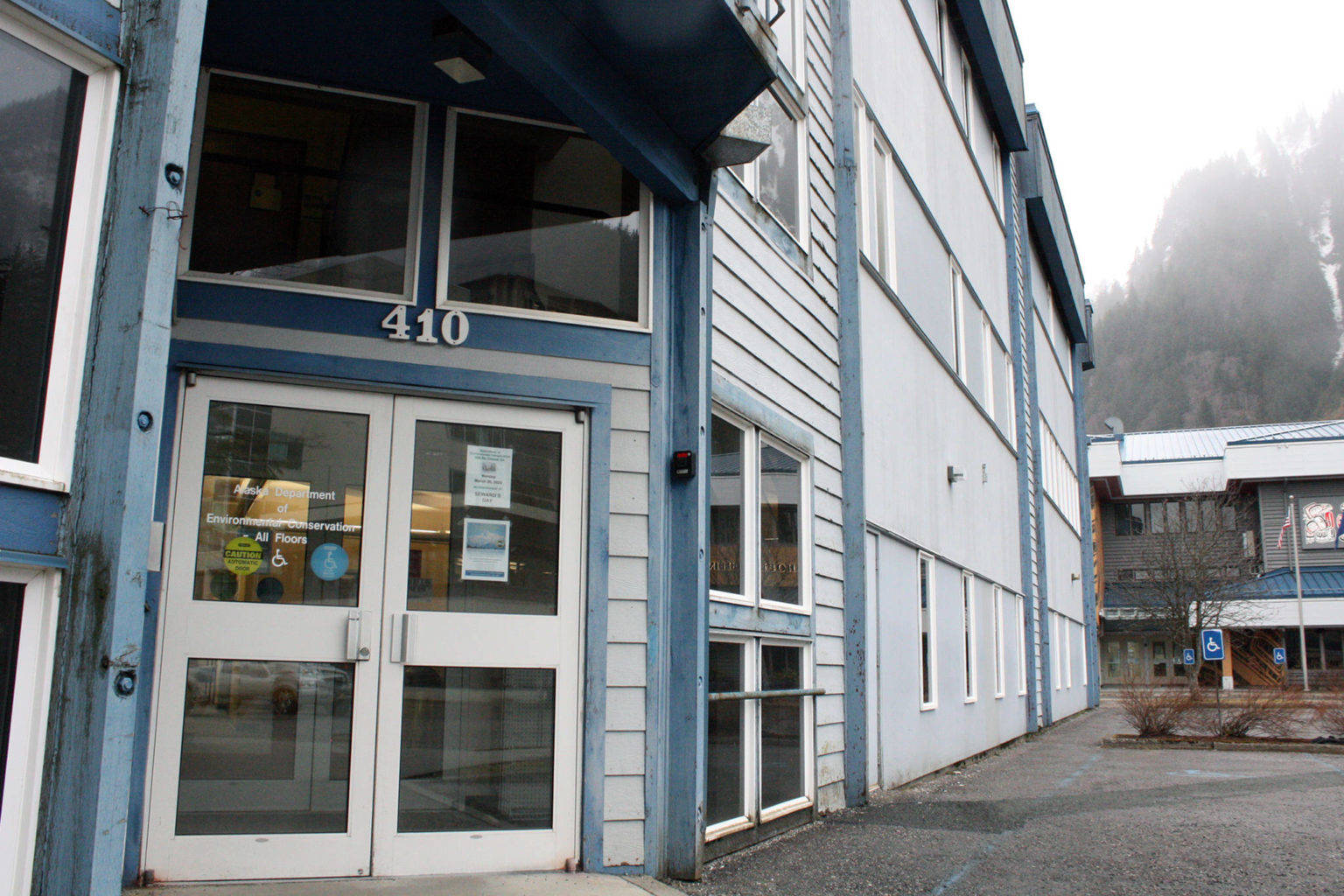 Ben Hohenstatt | Juneau Empire                                 A patient, who tested positive for the coronavirus, had contact with the first floor of the state office building at 410 Willoughby Ave., according to an email from DEC Commissioner Jason Brune.