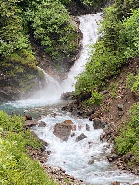 Ebner Falls, part of a turbulent Gold Creek, can be seen on Wednesday, June 17, 2020. (Courtesy Photo | Denise Carroll)