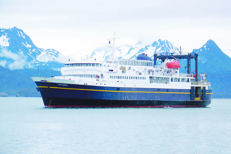 The M/V Tustumena comes into Homer after spending the day in Seldovia in 2010. (Homer News File)
