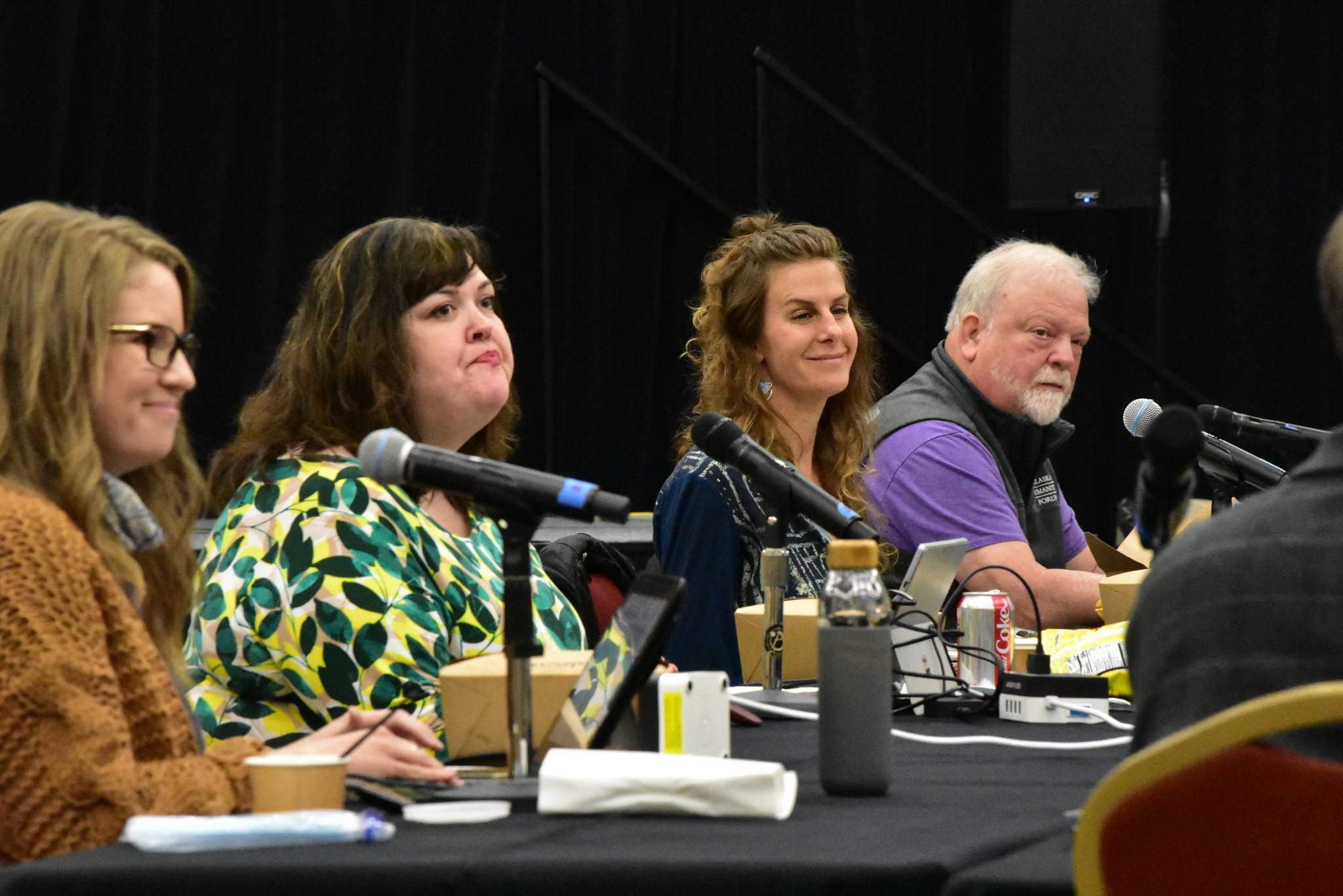 Peter Segall | Juneau Empire                                 Members of the Juneau Economic Stabilization Task Force established by Mayor Beth Weldon at a meeting at Elizabeth Peratrovich Hall on Friday, June 26, 2020. Task force members brainstormed ideas to try and help businesses struggling with the fallout from the COVID-19 pandemic.