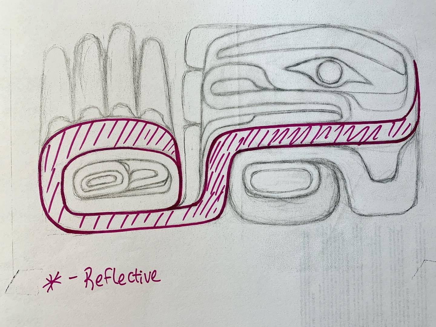 This is one Crystal Worl's original sketches for Capital City Fire/Rescue's new ambulance. (Courtesy art / Crystal Worl)