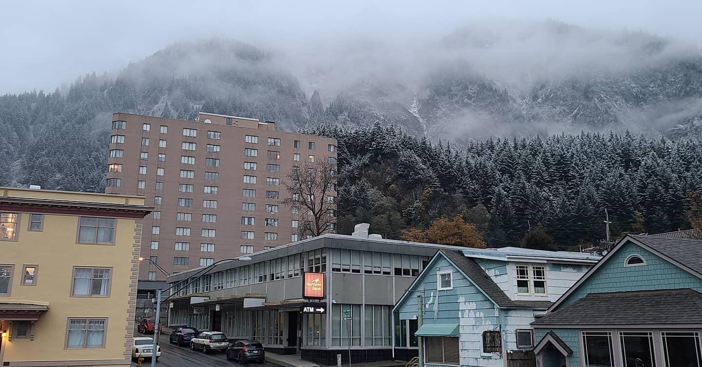 Juneau saw its first sea-level snow for the winter of 2020 with 1/10 of an inch falling in the Mendenhall Valley on Oct. 19, 2020. (Courtesy photo / Jeana Varney)