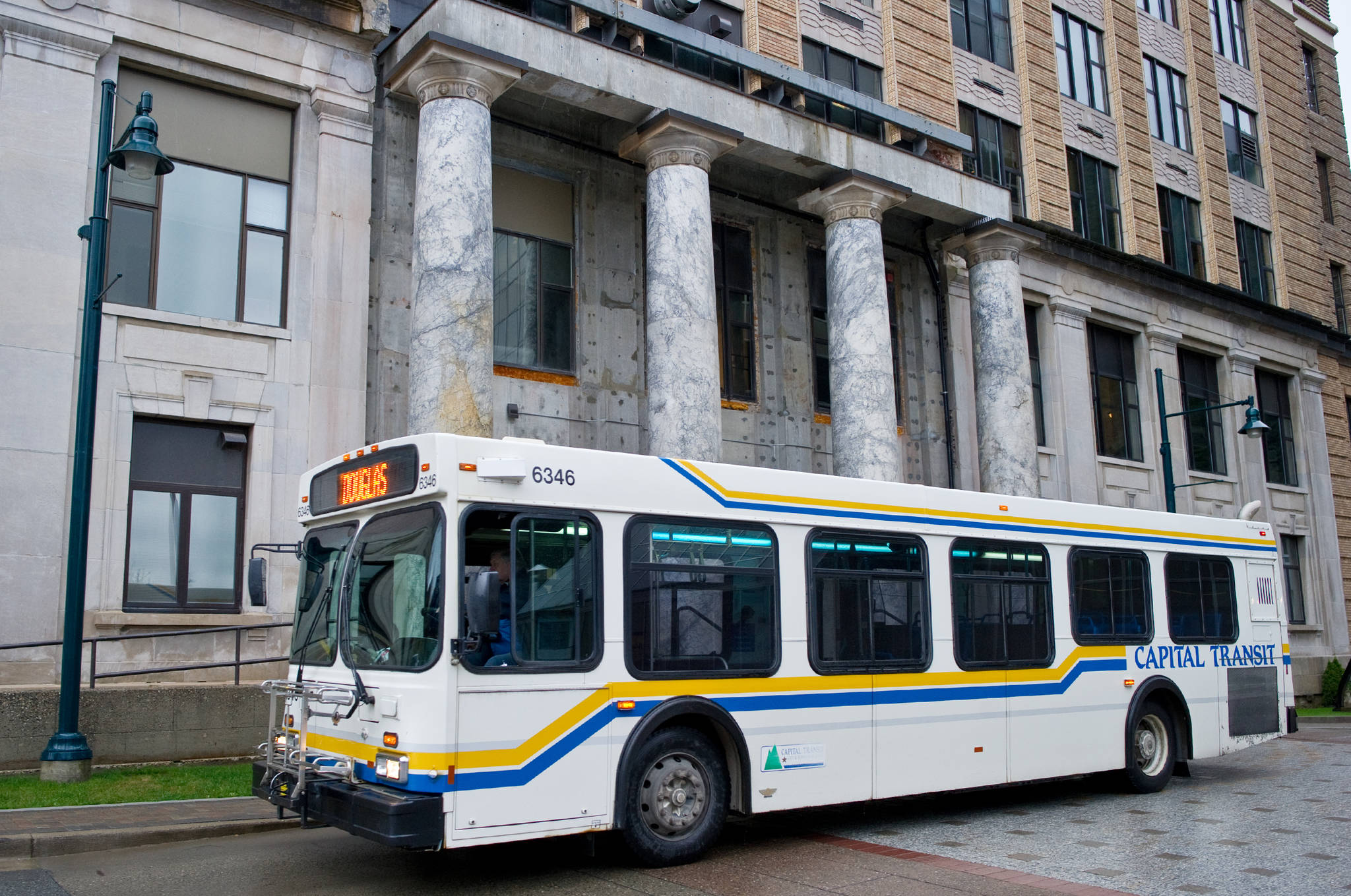 Capital Transit is tightening passenger limits in response to raised community risk levels, Oct. 22, 2020. (Michael Penn / Juneau Empire File)
