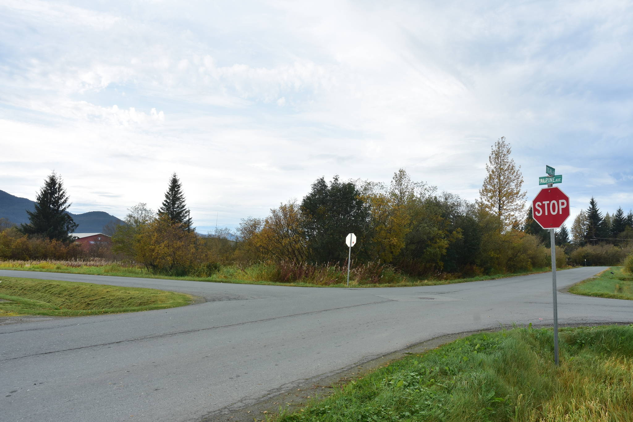 The site of the future Glory Hall at the corner of Teal Street and Alpine Avenue in the Mendenhall Valley. Co-located will be the Southeast Community Services Center, forming and integrated campus, Wednesday, Sept. 30, 2020. (Peter Segall / Juneau Empire)