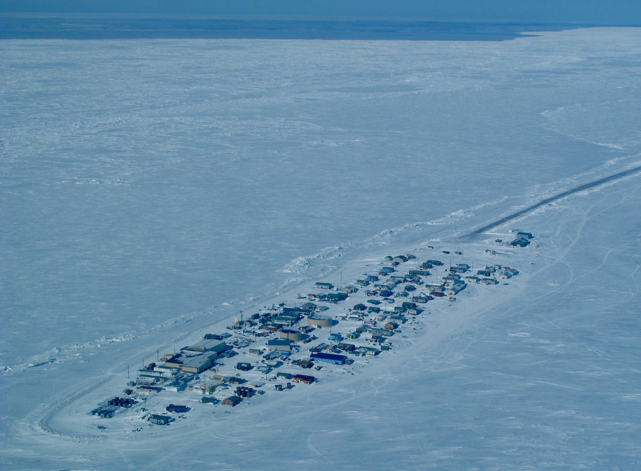 This photo shows sea ice off the village of Kivalina in northern Alaska. (Courtesy Photo / Ned Rozell)
