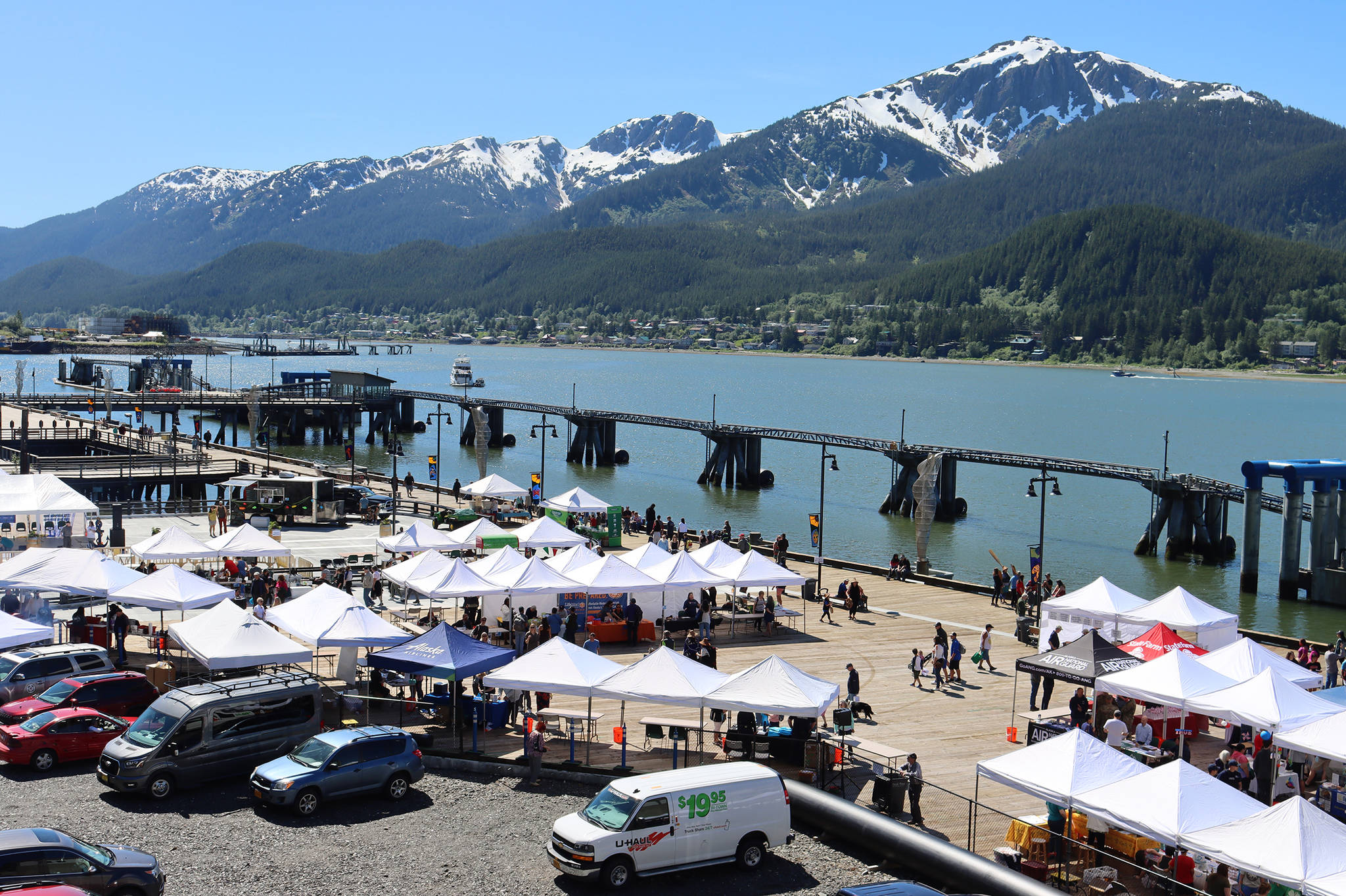 More vendors than ever were part of the 11th edition of the Juneau Maritime Festival held Saturday, according to Juneau Economic Development Council executive director Brian Holst. In total, there were 56 vendors at this year's event. Holst said about 40 vendors had been a typical number at past iterations of the event that celebrates Juneau's maritime culture. (Ben Hohenstatt / Juneau Empire)