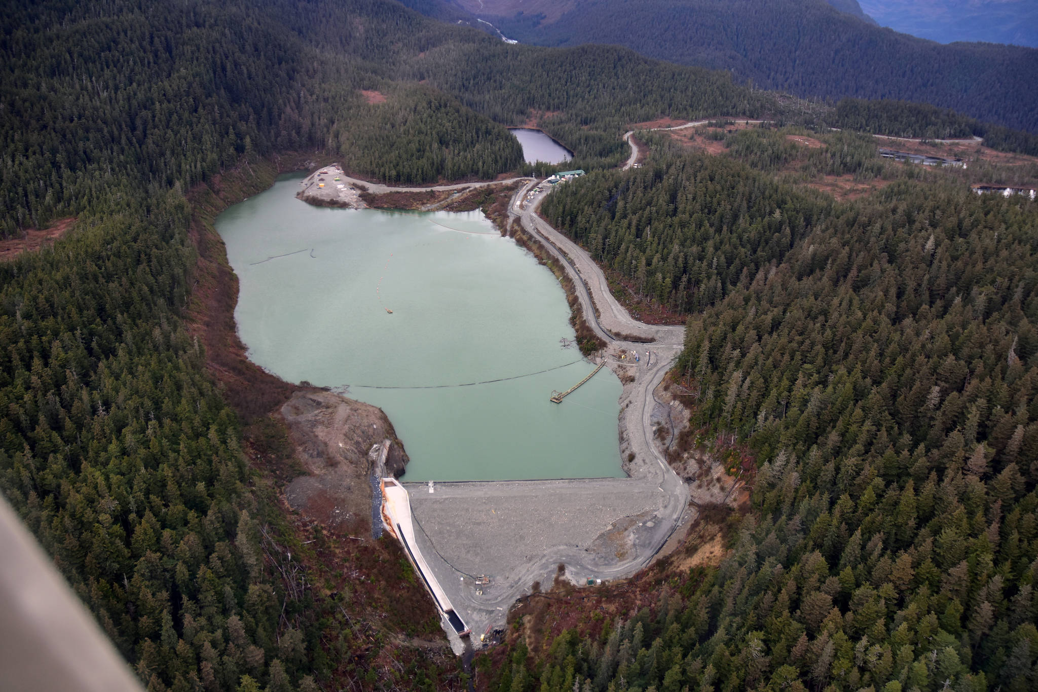 Peter Segall / Juneau Empire File  Coeur Alaska will likely be able to expand their facilities at the Kensington Gold Mine including the Tailing Treatment Facility, seen here in this October 2019 photo, after the U.S. Forest Service announced it intends to approve the company's proposal to extend the mine's life by 10 years. Operations were expected to end in 2023 under a plan approved in 2005.