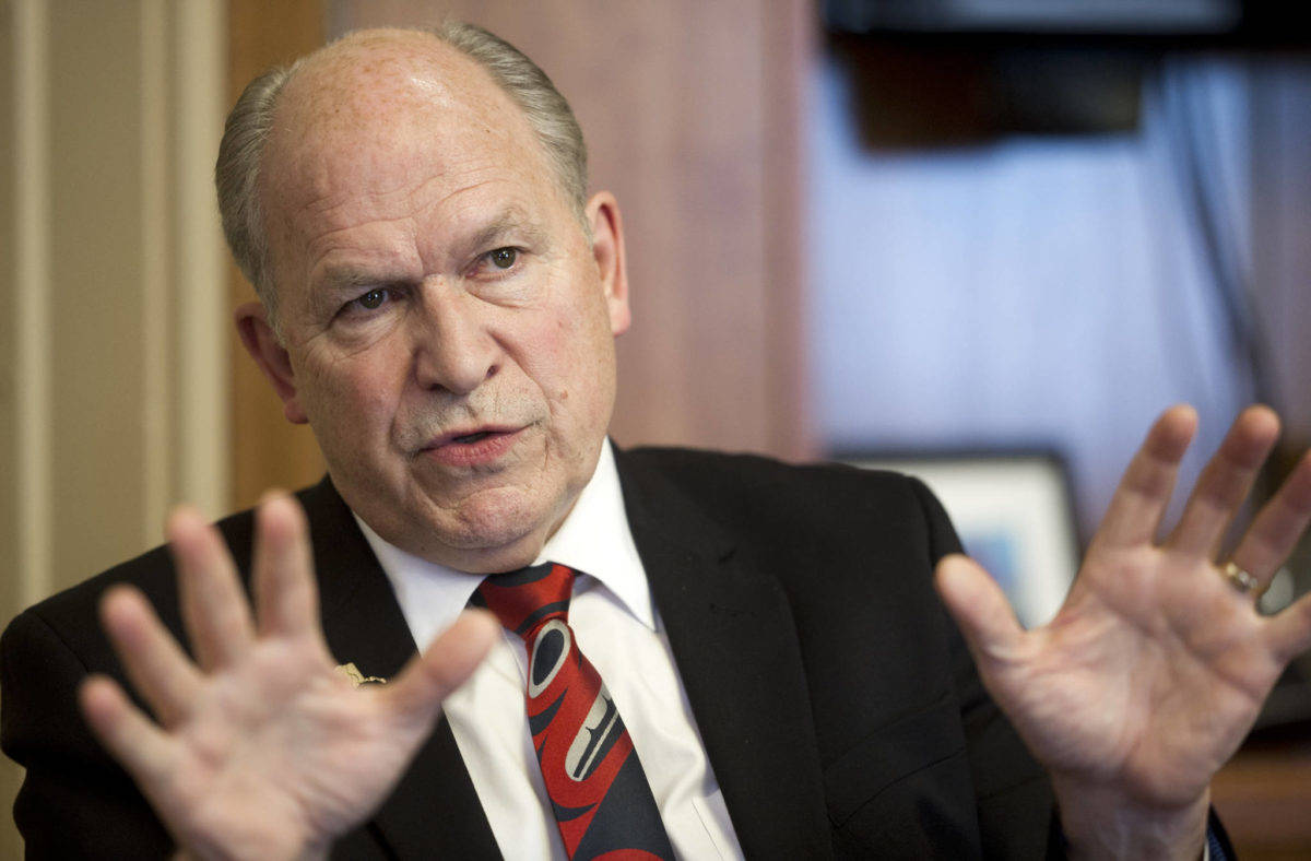 Former Gov. Bill Walker, seen here in 2016, filed to run for governor once again in 2022, picking former Department of Labor and Workforce Development Commissioner Heidi Drygas to run for lieutenant governor. (Michael Penn / Juneau Empire file)