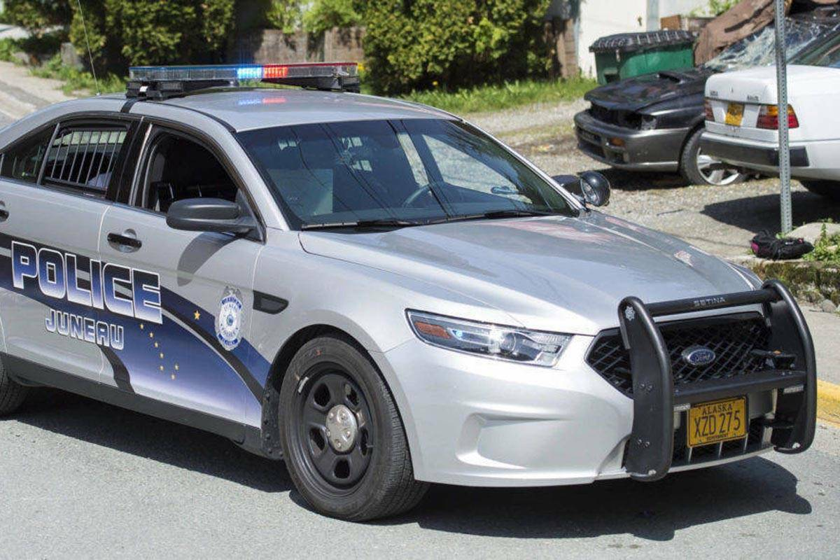 It's a police car until you look closely. The eye shies away, the . (Juneau Empire File / Michael Penn)